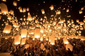 4 lamparas de luz - en el pais de las bodas