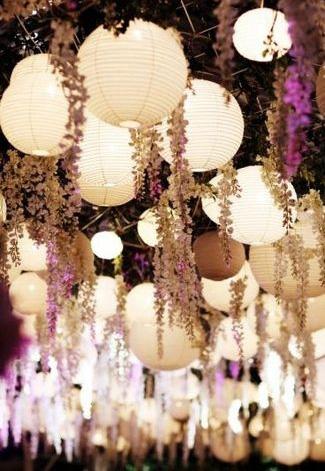 decoracion lampara de papel ikea - en el pais de las bodas3