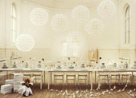 decoracion lampara de papel ikea - en el pais de las bodas4