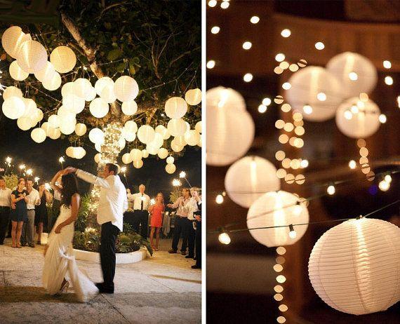 decoracion lampara de papel ikea - en el pais de las bodas5