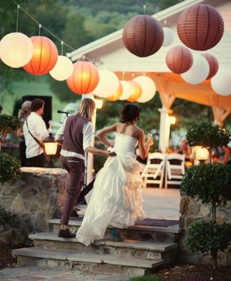 decoracion lampara de papel ikea - en el pais de las bodas7