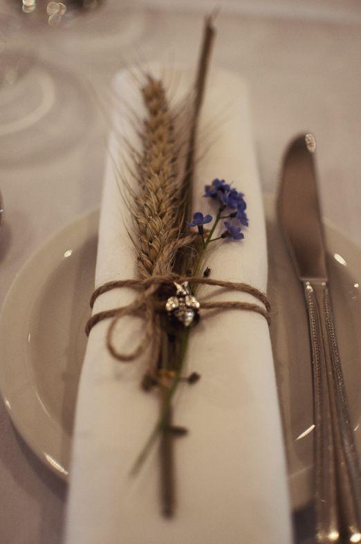 Decoración con trigo para bodas