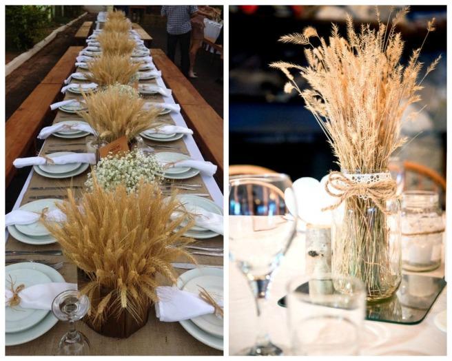decoracion con trigo para bodas 3