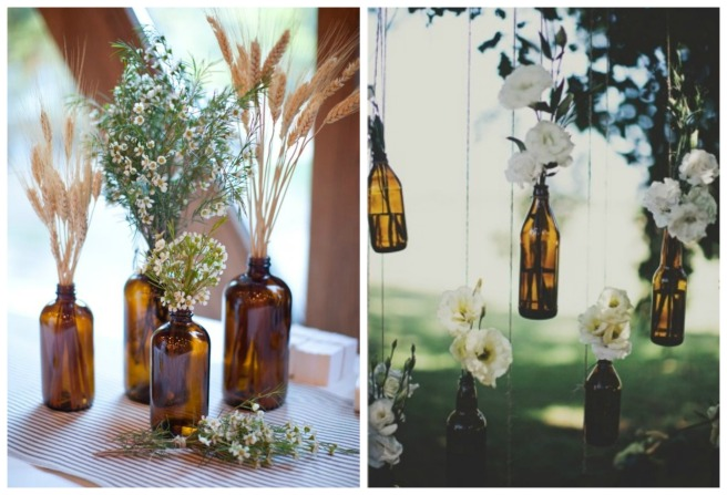 decoracion con trigo para bodas