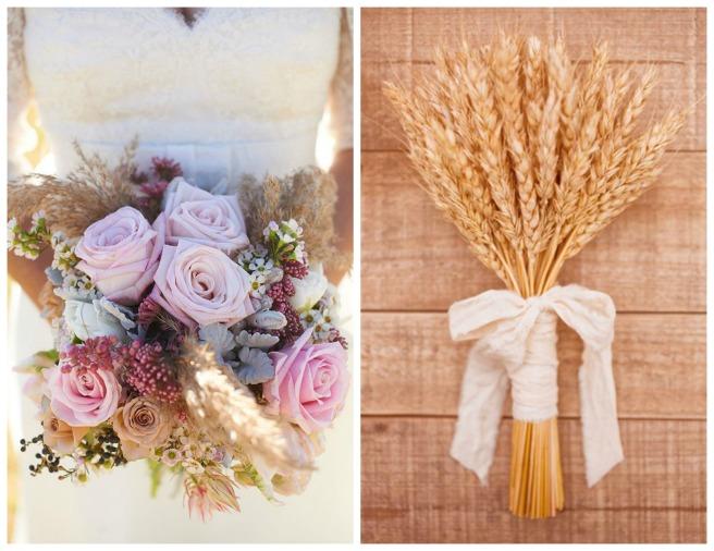 decoracion con trigo para bodas2