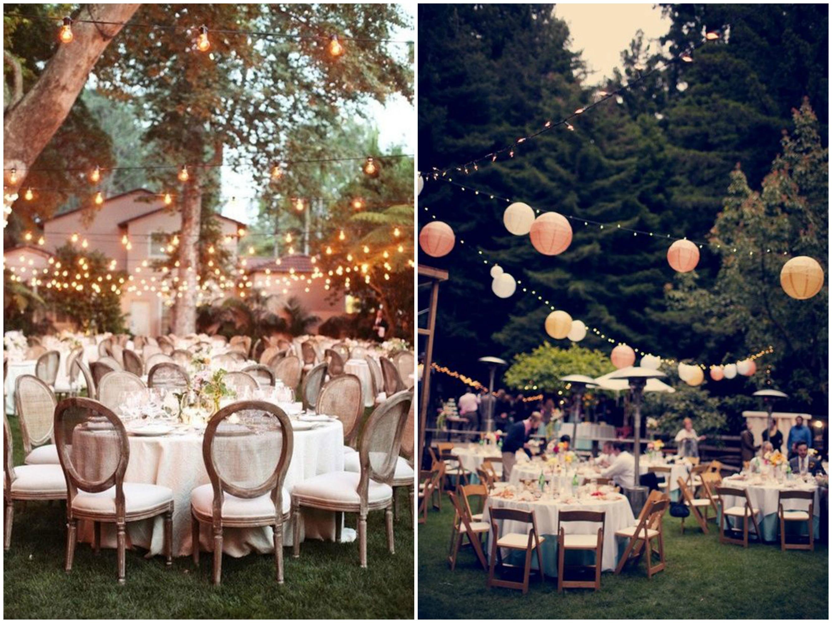 Decoraci n de mesas para una boda al aire libre en el for Fotos de mesas de bodas