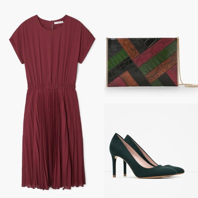 Vestido: Mango Bolso: Mango Zapatos: Zara