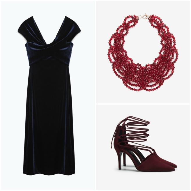 Vestido: Zara, Collar: Uterqüe, Zapatos: Zara.