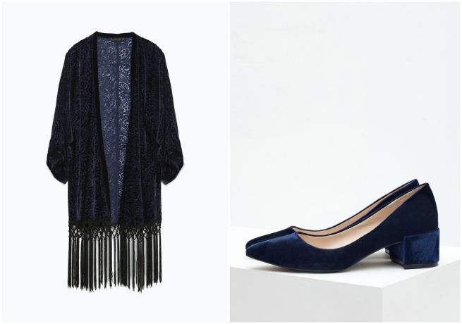 Kimono de flecos: Zara, Zapatos: Zara.