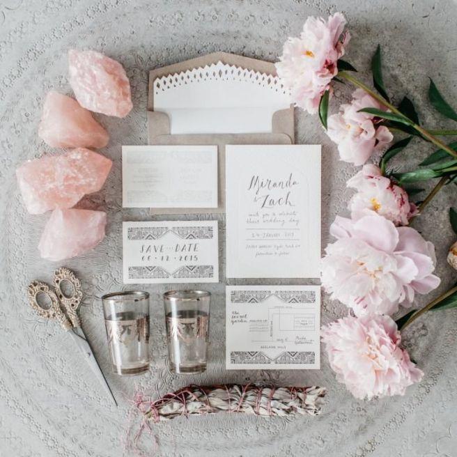rosa cuarzo bodas